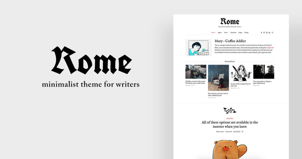 Rome WiThemes Preview